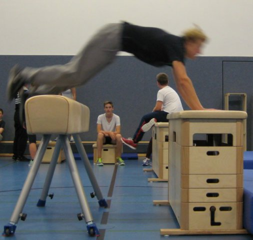 Bilder aus den Workshops Parkour